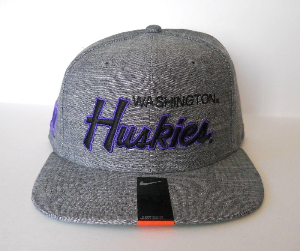 online store 6712d 839e6 ... coupon code for washington huskies snapback hat nike vault script sports  specialties throwback 9136c 1c63d