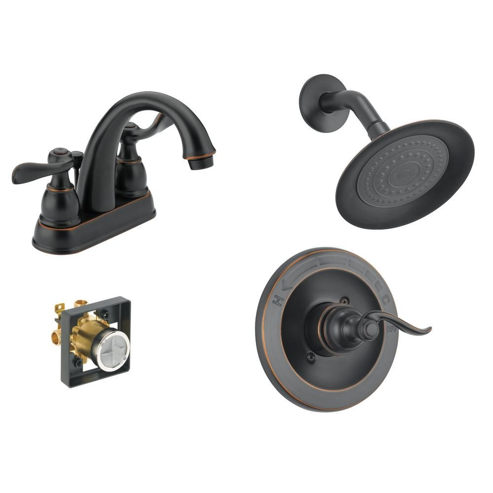 Delta Windemere 4 In Centerset 2 Handle Bathroom Faucet Bundle