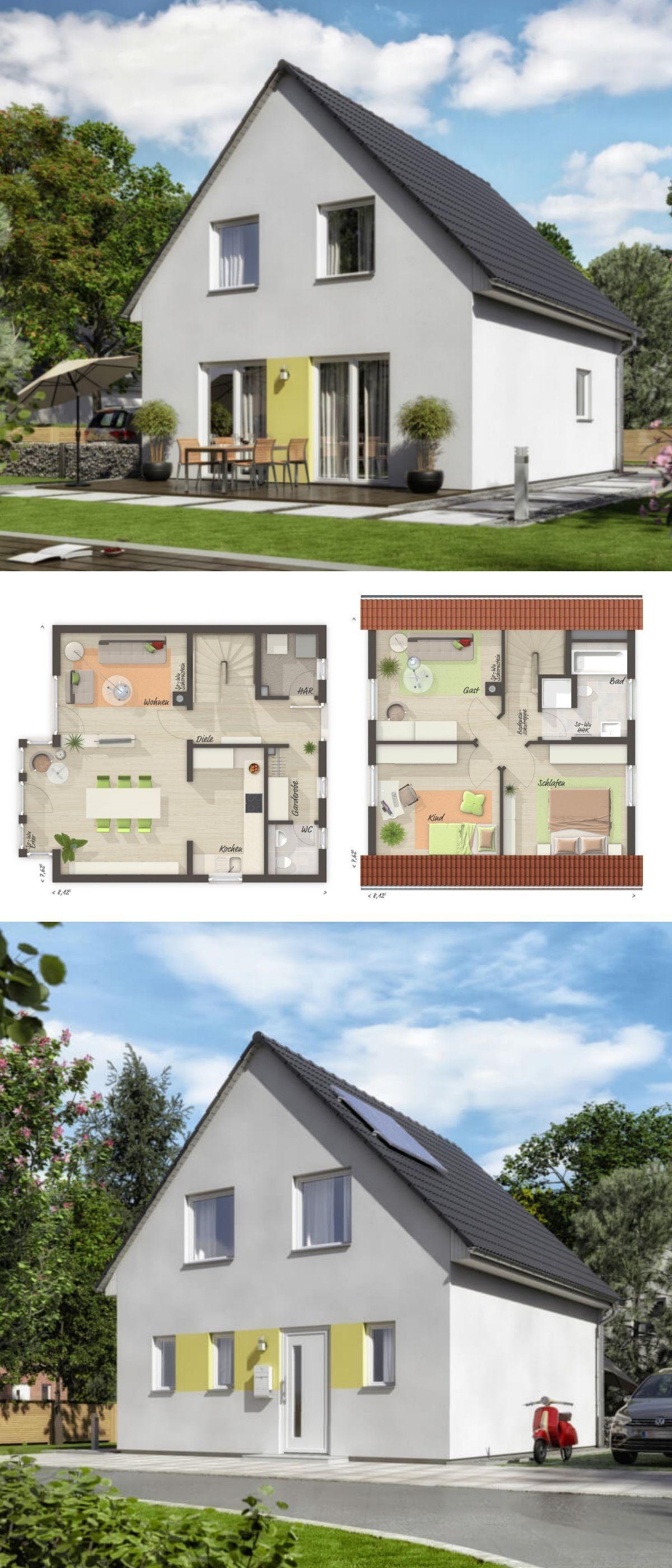 Einfamilienhaus neubau modern grundriss klassisch mit for Architektur klassisch