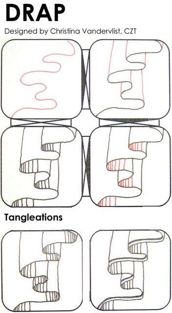Zentangle 禪繞畫 艷 Yen Style 教學 イラスト 書き順 描き方