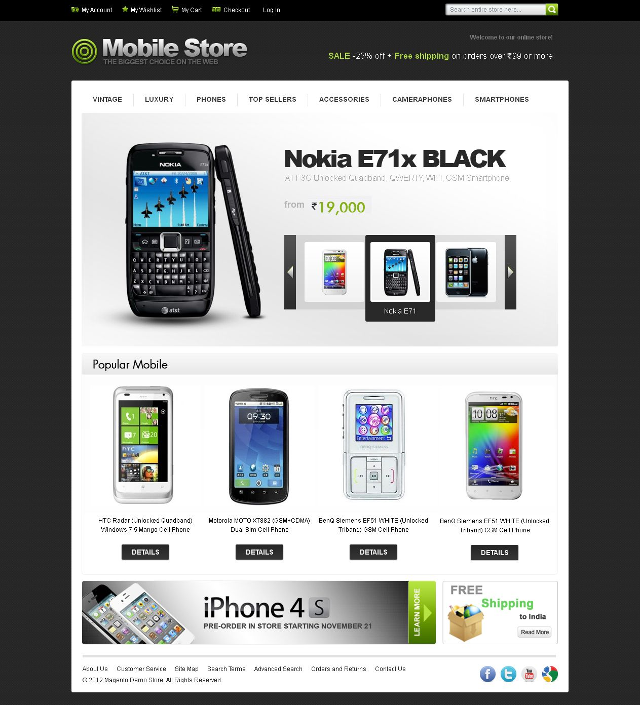 Mobile Store Theme: Like it ? To create your own estore, log on to www.buildabazaar.com