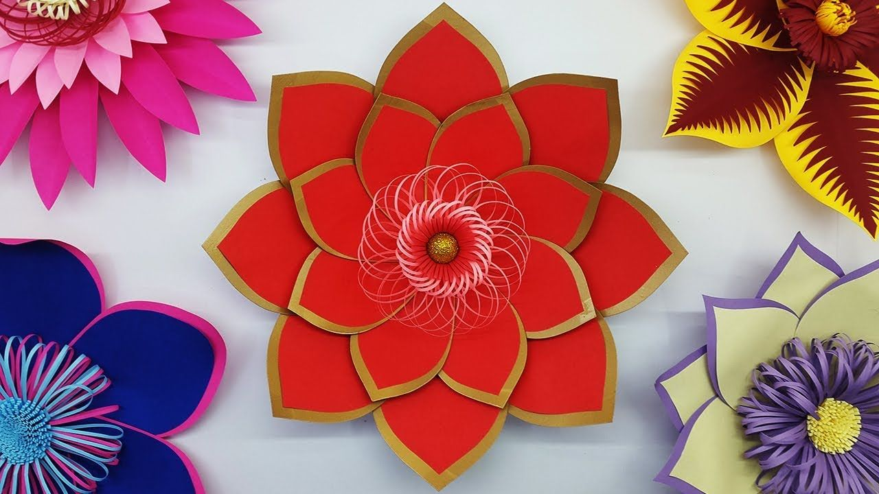 Diy paper flowers making tutorial and free template