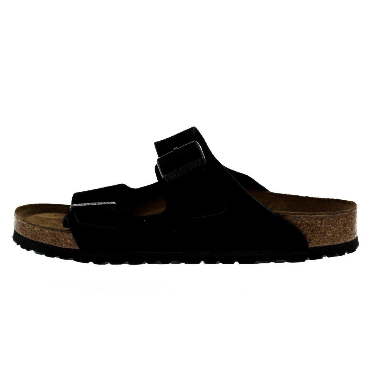 Black · Birkenstock - Unisex Arizona Soft Footbed Sandals ...