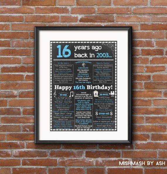 16th Birthday Gift Boy For Him