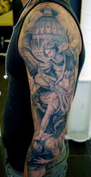 Tatuaże Męskie Anioł I Demon Tattoos Tatuaże Tatuaż Na