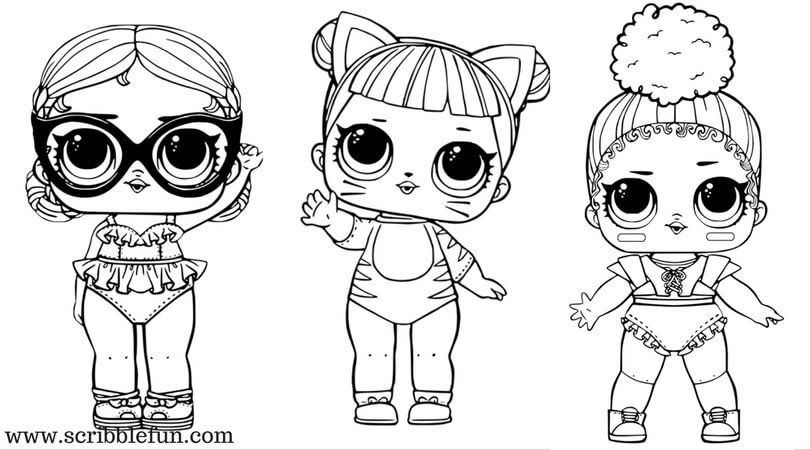 Lol Suprise Dolls Para Colorear Imprimible Gratis Dibujos