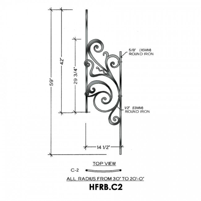 HFRB.C2 - Angled & Curved Rebecca Series Panel