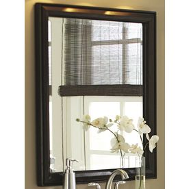 Web Image Gallery Zoomed allen roth x Moxley Cocoa Rectangular Bath Mirror I ud like th change out my down stairs bathroom mirror with something like this