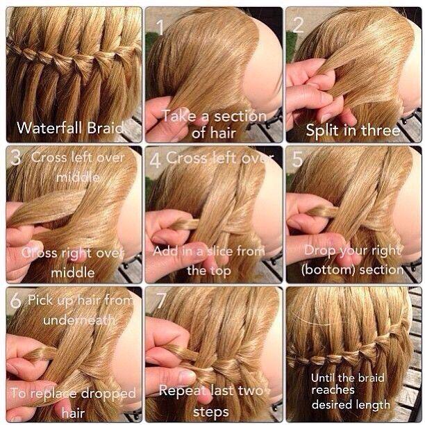 Waterfall braid tutorial