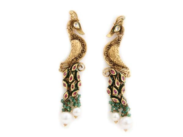 The peacock earrings