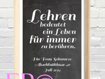 ★ Lehren. ★ Abschiedsgeschenk ★ Print  21x30,5cm