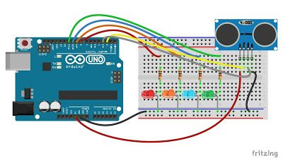 Ultrasonic Non Contact Water Level Indicator In 2020 Arduino Arduino Projects Ultrasonic
