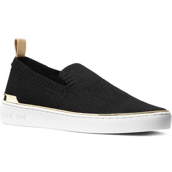 8b62ed9ecb8c Michael Michael Kors Women s Skyler Knit Slip-On Sneakers ( 115) ❤ liked on  Polyvore featuring shoes