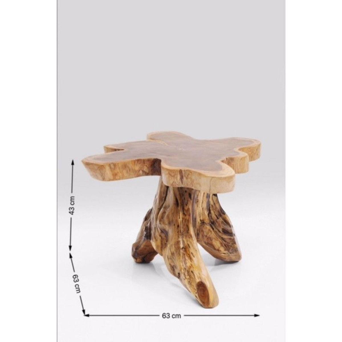 Table Basse Avec Souche D Arbre table d'appoint souche d'arbre 63cm kare design - taille : 4