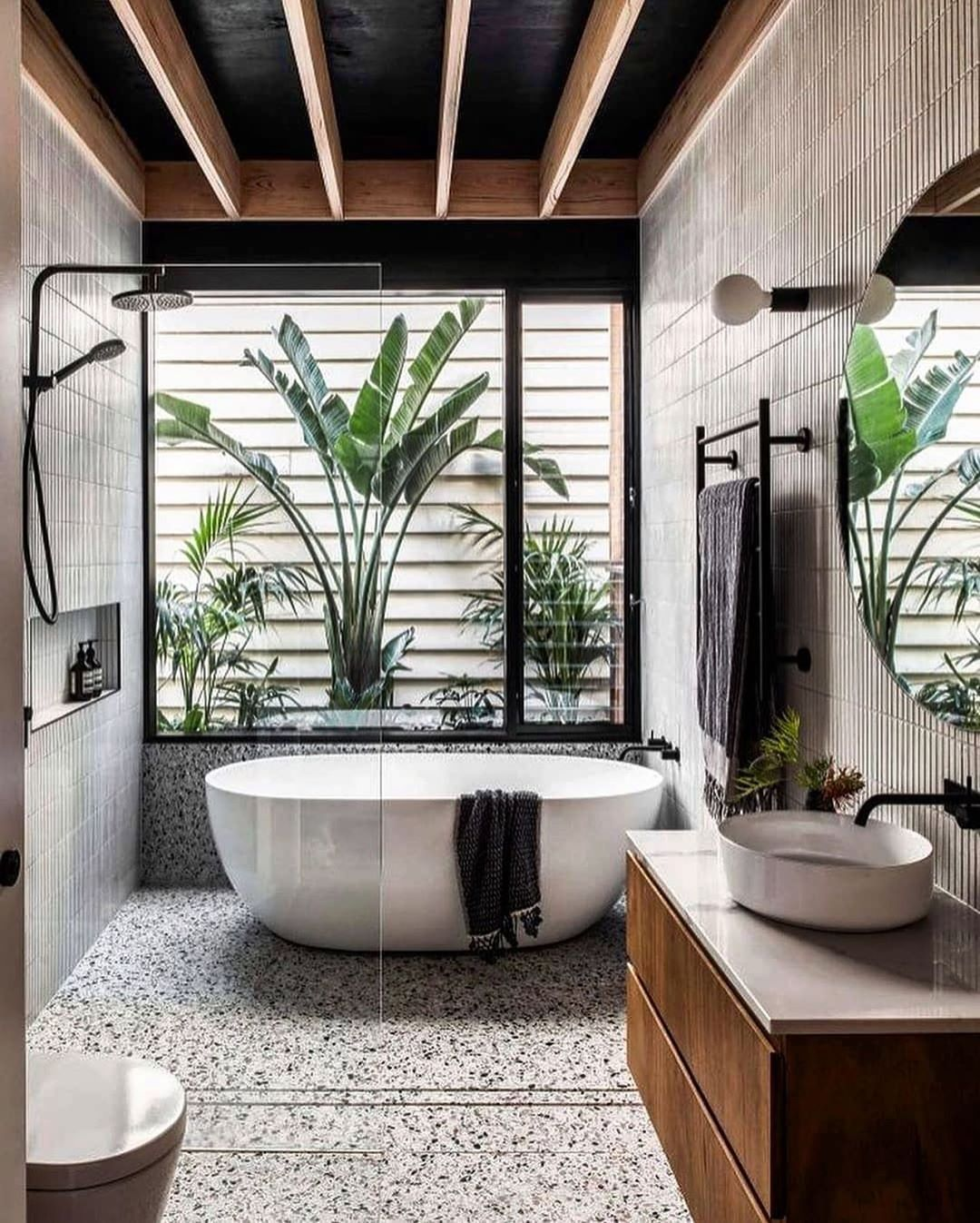 Design Magazine On Instagram Tropical Vibes Bathroom Design Figr Architects Photography By Tom Bathroom Interior Design Home Additions Bathroom Design