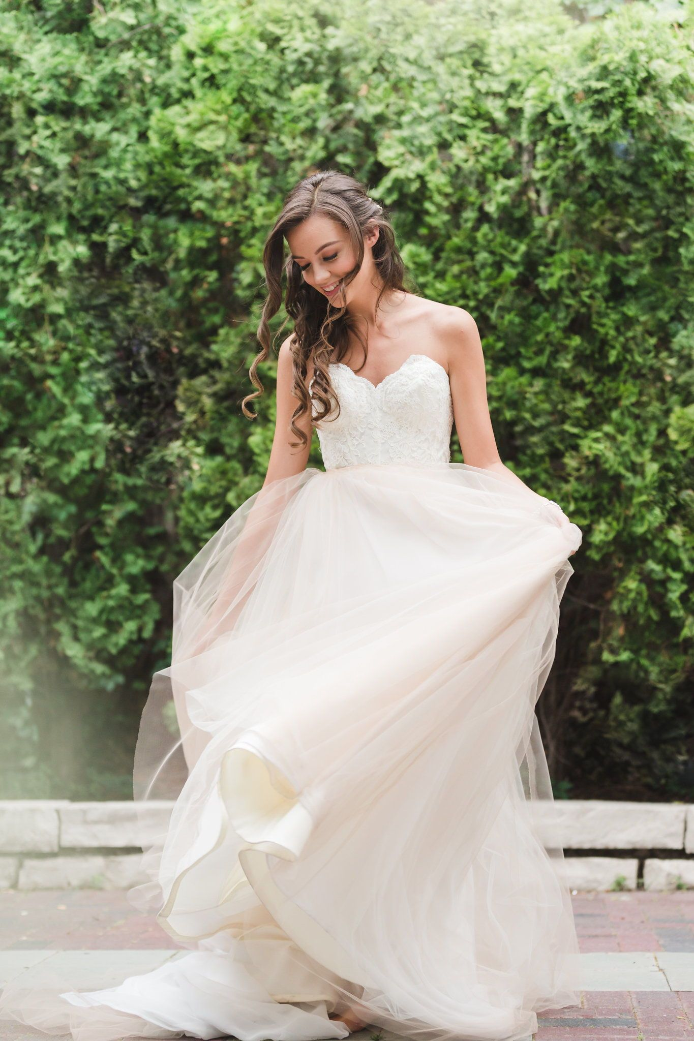 Fun Wedding Dress Picture Hair And Makeup By Chicago Bridal