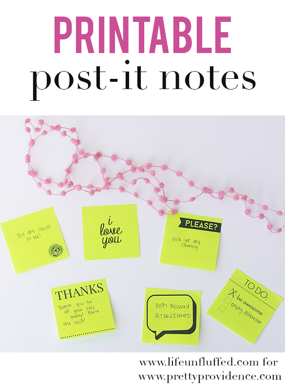printable post it notes how freaking adorable are these i cant wait to print some out so easy