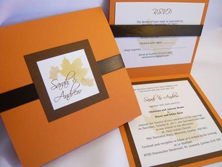 Fall Wedding Invitations Diy