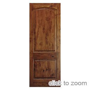 Knotty Alder 2 Panel Archtop 1 3 4 Knotty Alder Doors Doors Profile Doors Interior Rustic Doors Interior Prehung Interior Doors