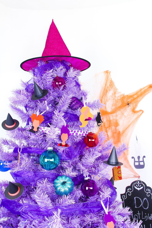 DIY Hocus Pocus Themed Halloween Tree Halloween trees and Hocus pocus - halloween tree decoration