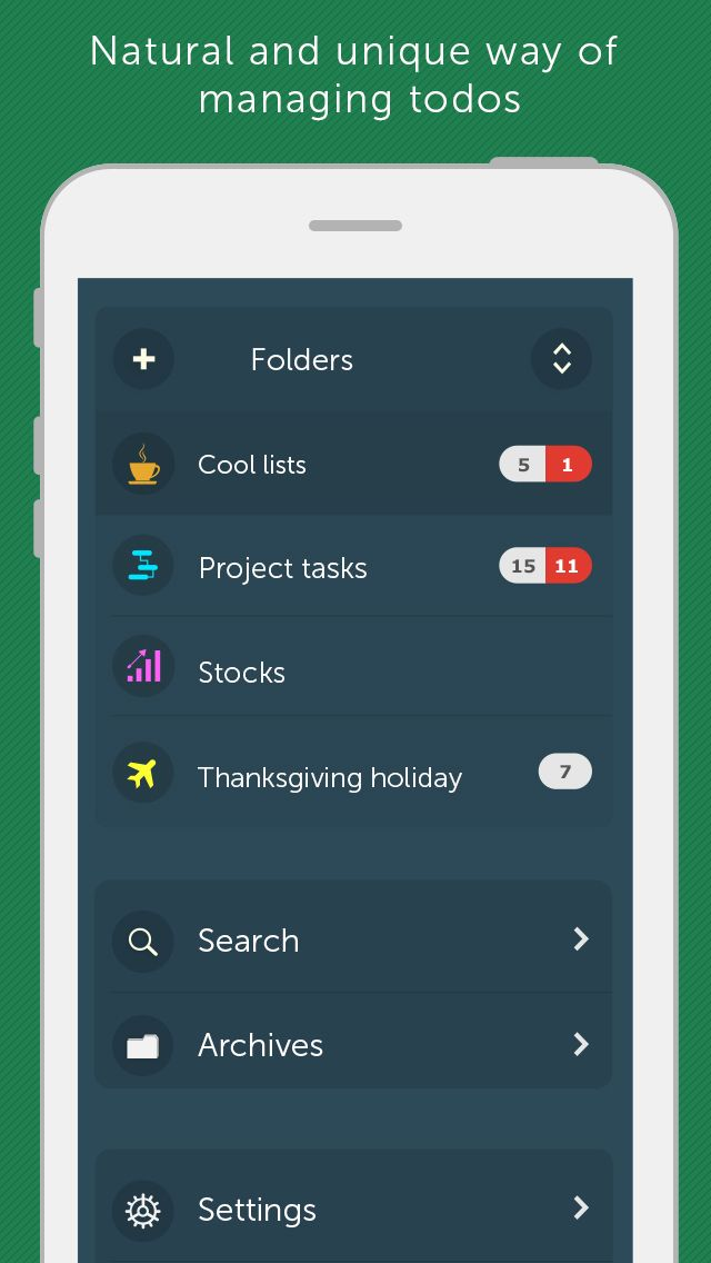 SAVE $1 99: Orderly - Reminders Tasks ToDo Lists Project