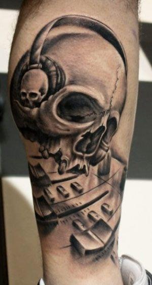 skull tattoo by alex gotza tattoo artists pinterest tattoos cool tattoos and skull tattoos. Black Bedroom Furniture Sets. Home Design Ideas