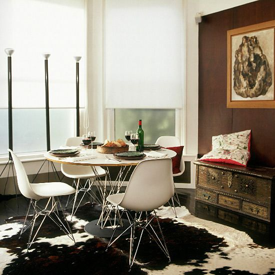 Brazilian Cowhide Rug Home Is Where The Heart Is Pinterest - Cowhide rug dining room