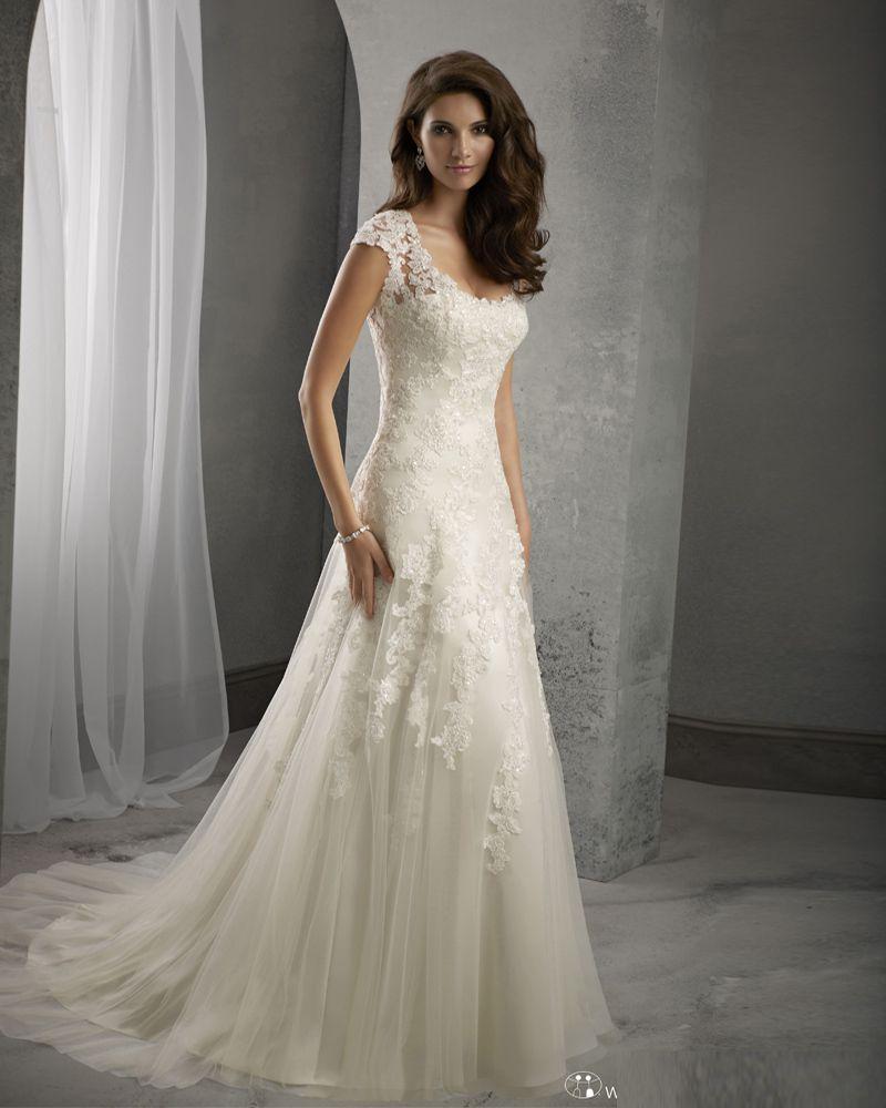 Brautkleid, Ärmel, Spitzenrücken, € 195,09 / stück | Hochzeitskleid ...