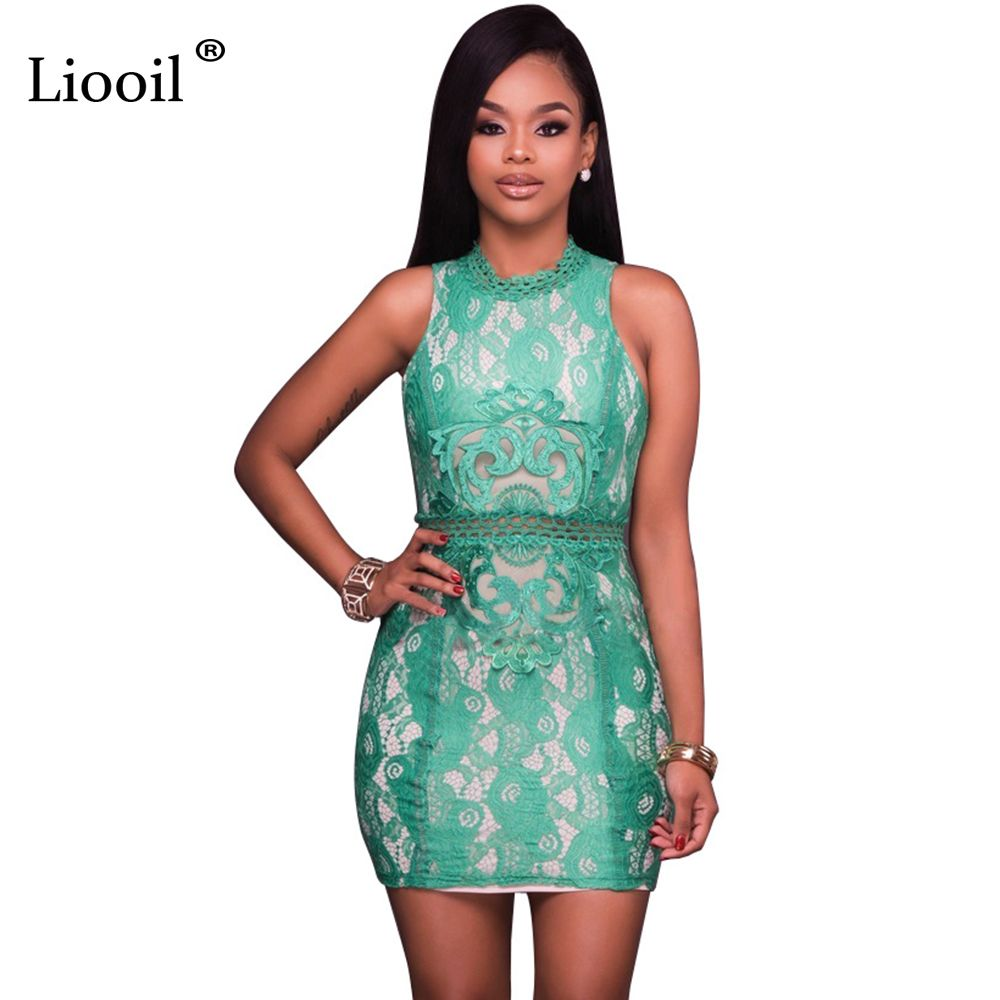 cb7014c89f623 Click to Buy    Liooil New Style Lace Summer Dress Women Sleeveless ...