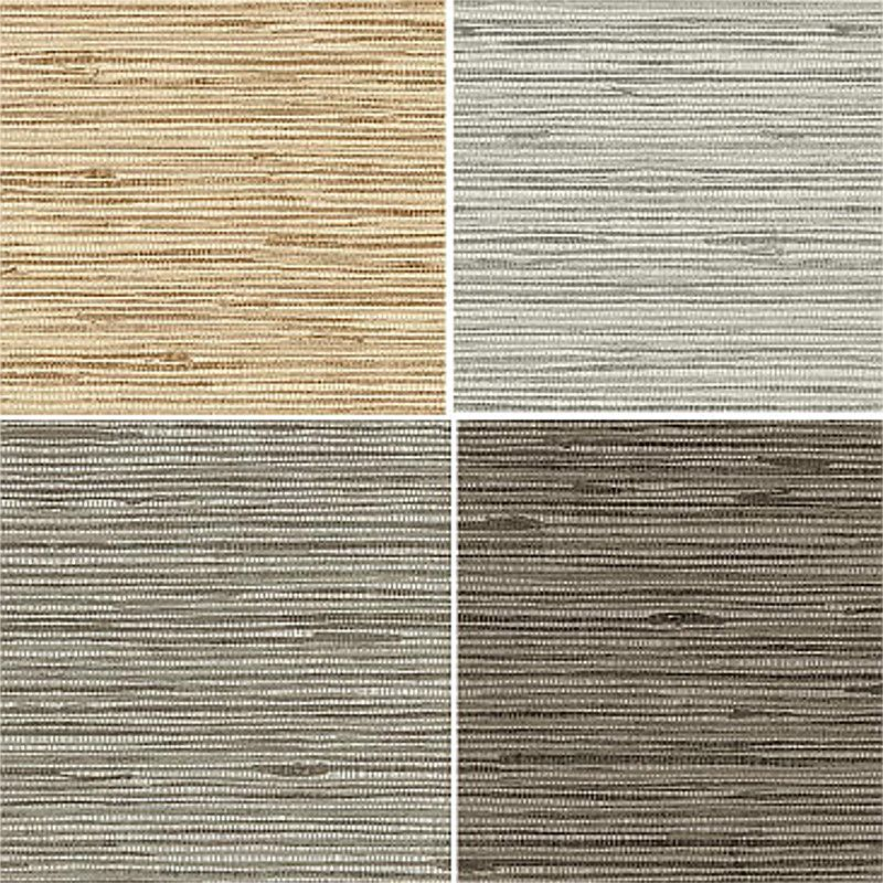 Textured Heavy Vinyl Faux Natural Horizontal Grasscloth