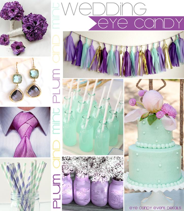 Eye Candy Creative Studio Wedding Plum And Mint Inspiration Board