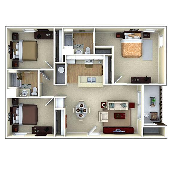 Denah Rumah Sederhana 3 Kamar Tidur Denah Rumah Rumah Minimalis Rumah