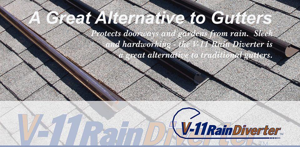 V 11 Rain Diverter A Great Alternative To Gutters Gutters Rain Diverter Downspout