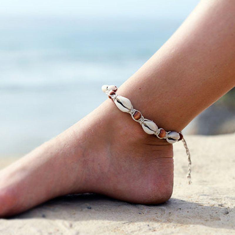 Cowrie shell bracelet Beach anklet Shell anklet Boho anklet Macrame bracelet Friendship bracelet