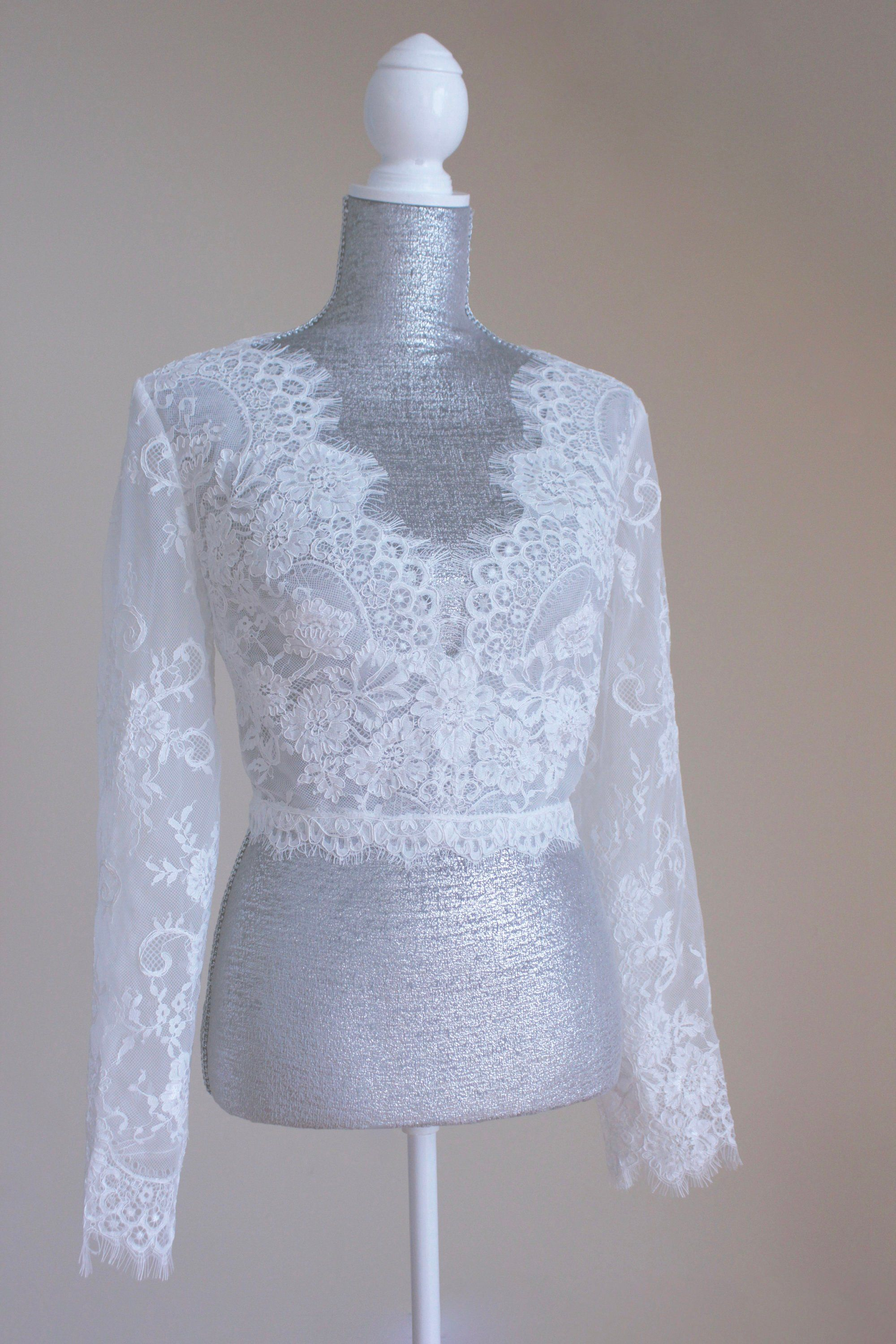 Lace Top Wedding Cover Up Wedding Long Sleeve Top Bridal Etsy In 2021 White Lace Long Sleeve Top Lace Top Long Sleeve Bridal Tops [ 3000 x 2000 Pixel ]