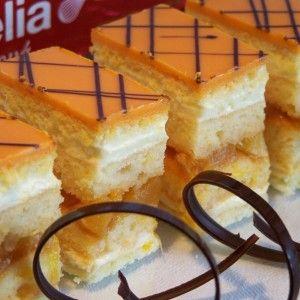 Pomarančové rezy s vanilkovým krémom