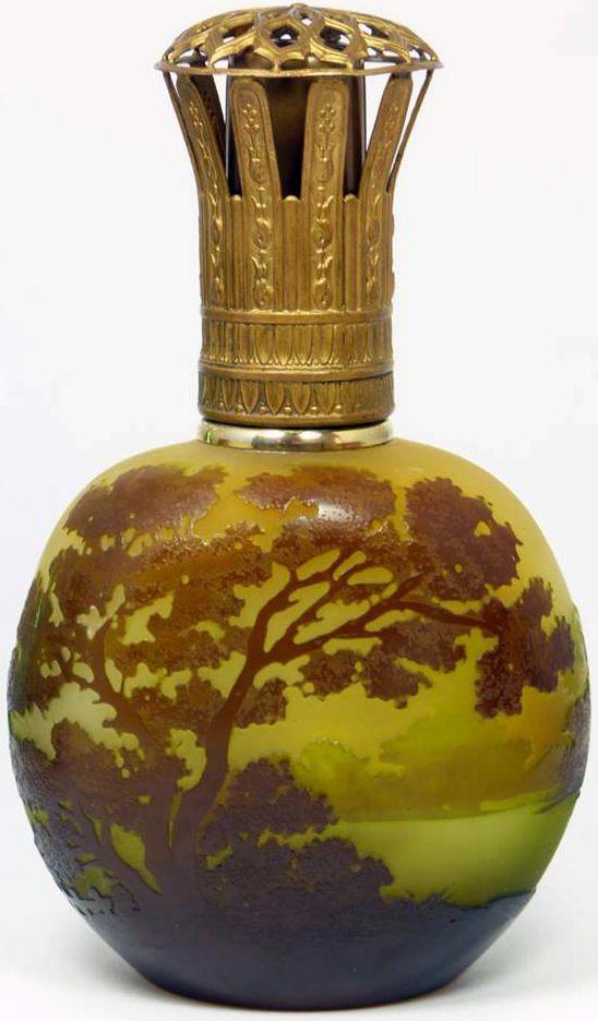Emile Galle Lampe A Parfum Arbre Ancetre De La Lampe Berger Glass Perfume Bottle Perfume Bottles Perfume Bottle Art