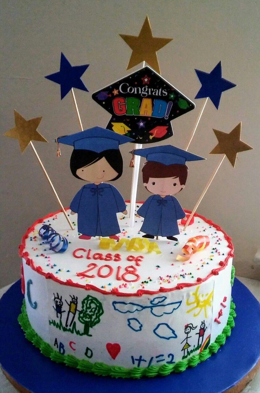 Preschool graduation cake decorations | Tortas de ...