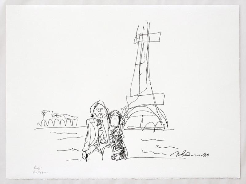 Yoko Ono On John Lennon's Forgotten First Love -- Drawing ... |Sketches John Lennon And Yoko Ono