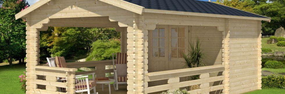 Gartenhaus mit Veranda für fröhliche Sommertage | Pinterest ...