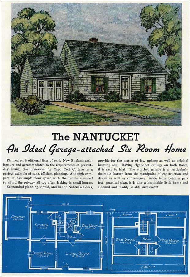 1939 Lewis Mfg Liberty Homes The Nantucket Vintage House Plans Liberty Home House Plans