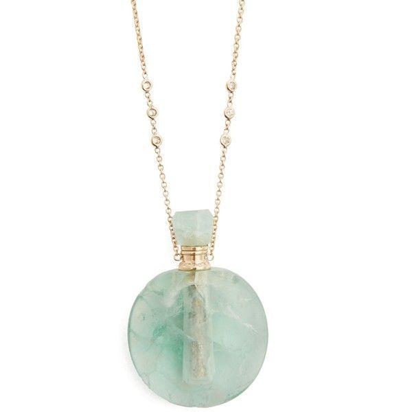 Jacquie Aiche Diamond, fluorite & yellow-gold necklace