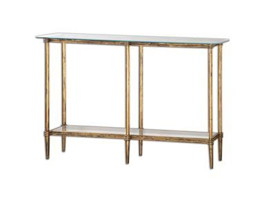 Shop For Uttermost Elenio Glass Console Table, And Other Living Room Tables  At Bacons Furniture In Sarasota And Port Charlotte, FL.