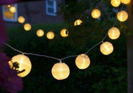 Uping Guirlande Lumineuse Lampion Batterie Etanche 20 LED 3,6 mètres ...