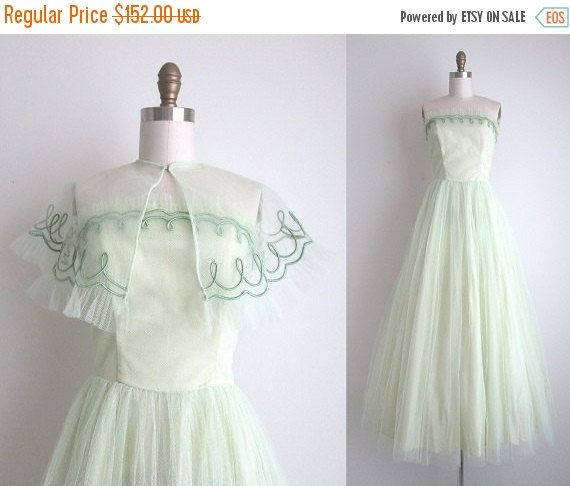 SALE 30% OFF 1950s Formal Dress / Vintage by CanaryClubVintage ...