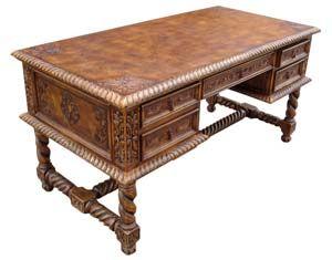 Bon Soloman Western Leather Desk Western Office Furniture