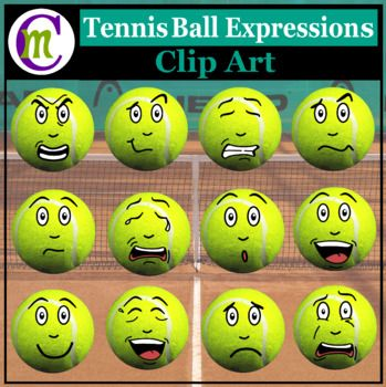 Tennis Expressions Clipart Sports Ball Emotions Clip Art