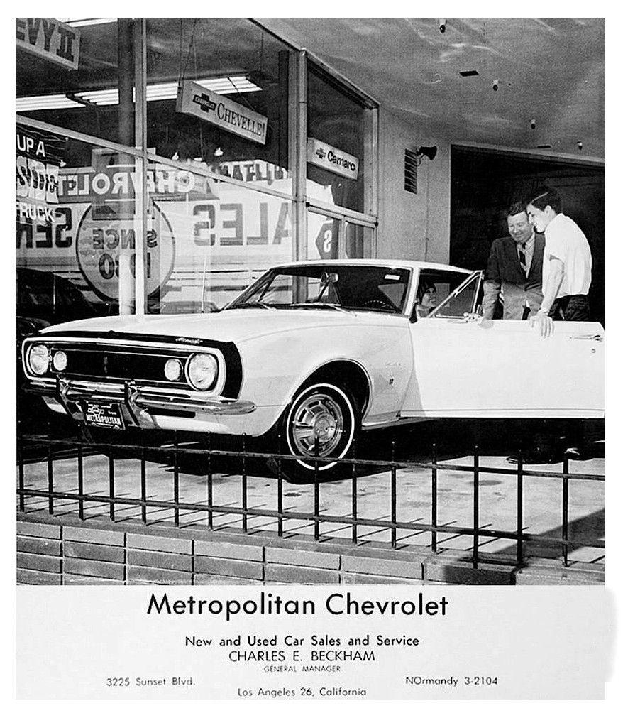 1967 Metropolitan Chevrolet Dealership Los Angeles California