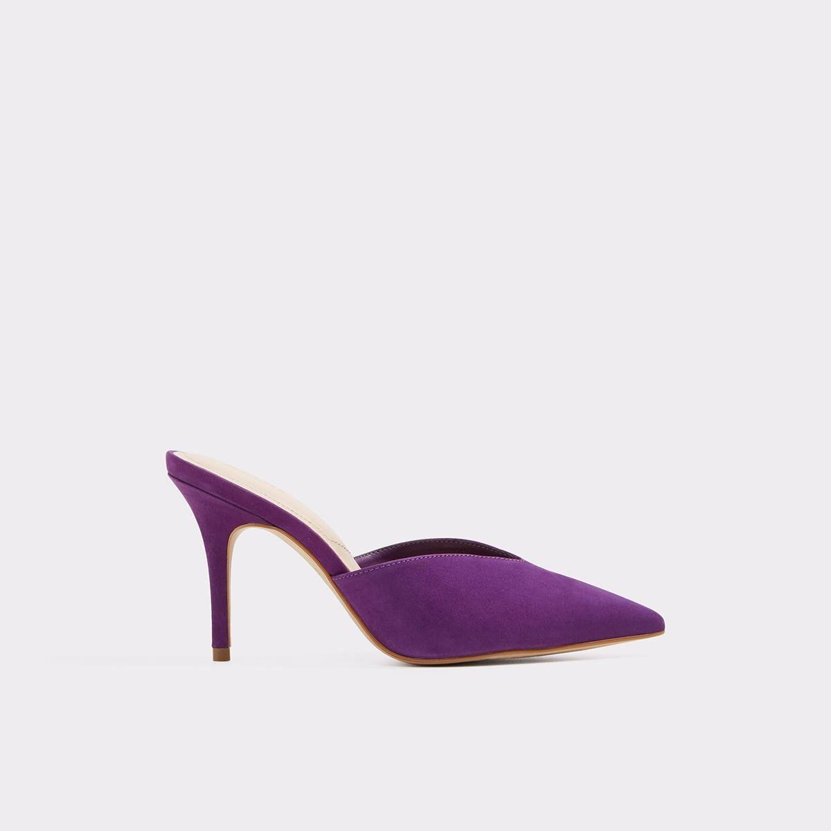 Aldo Labauve Kitten Heel Mule In Purple Heels Heels Shopping