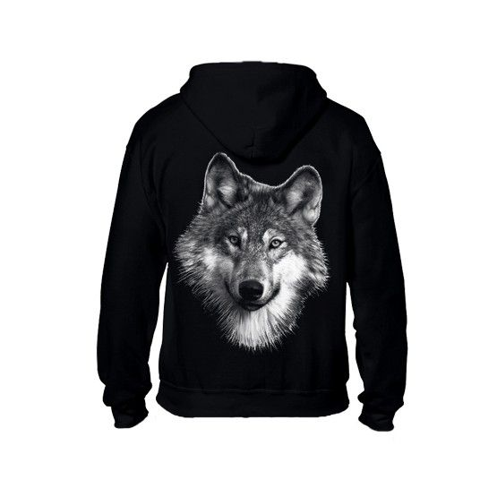 Sweat shirt capuche avec zip. Enfant Loup | Sweat shirt